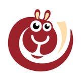 Logotipo de la alpaca de las lanas Imagen de archivo libre de regalías