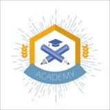 Logotipo de la alta educación Ilustración del vector libre illustration
