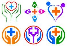 Logotipo de la atención sanitaria stock de ilustración