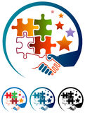 Logotipo de la ayuda stock de ilustración