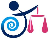 Logotipo de la balanza Imagenes de archivo