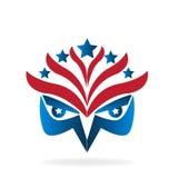Logotipo de la bandera de Eagle stock de ilustración