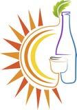 Logotipo de la bebida del verano Foto de archivo