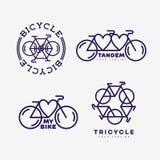 Logotipo de la bici Imagen de archivo