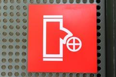 Logotipo de la boca de incendios Fotografía de archivo