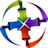 Logotipo de la brocha ilustración del vector