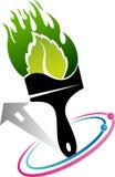 Logotipo de la brocha de Eco ilustración del vector