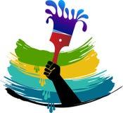 Logotipo de la brocha de la mano libre illustration