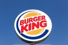 Logotipo de la cadena Burger King de los alimentos de preparación rápida Fotos de archivo libres de regalías