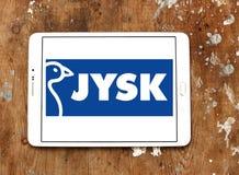 Logotipo de la cadena de venta al por menor de Jysk Fotografía de archivo libre de regalías