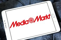 Logotipo de la cadena de Media Markt imágenes de archivo libres de regalías