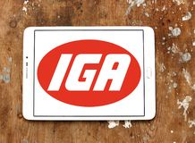 Logotipo de la cadena de supermercados de IGA Fotos de archivo libres de regalías