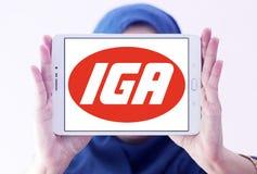 Logotipo de la cadena de supermercados de IGA Fotografía de archivo libre de regalías