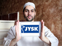 Logotipo de la cadena de venta al por menor de Jysk Imagen de archivo libre de regalías