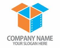 Logotipo de la caja de la película Fotografía de archivo