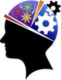 Logotipo de la capacidad intelectual ilustración del vector