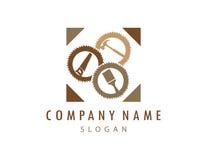 Logotipo 2 de la carpintería ilustración del vector