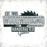 Logotipo de la carpintería de Vinatge stock de ilustración