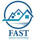 Logotipo de la casa Imágenes de archivo libres de regalías