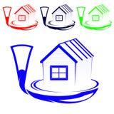 Logotipo de la casa Foto de archivo libre de regalías