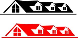 Logotipo de la casa Imagen de archivo libre de regalías