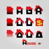 Logotipo de la casa ilustración del vector