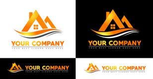 Logotipo de la casa Fotografía de archivo libre de regalías