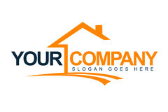 Logotipo de la casa de las propiedades inmobiliarias Imagenes de archivo