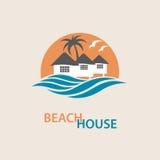 Logotipo de la casa de playa Foto de archivo