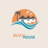 Logotipo de la casa de playa Fotos de archivo