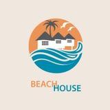 Logotipo de la casa de playa Fotos de archivo libres de regalías