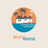 Logotipo de la casa de playa Imagen de archivo libre de regalías