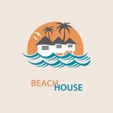 Logotipo de la casa de playa Imagen de archivo
