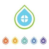 Logotipo de la casa del descenso Foto de archivo libre de regalías
