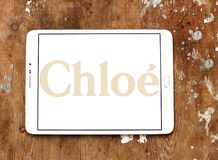 Logotipo de la casa de moda de Chloé Imágenes de archivo libres de regalías