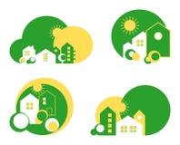 Logotipo de la casa verde Fotos de archivo libres de regalías