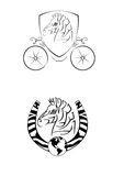 Logotipo de la cebra fotos de archivo libres de regalías