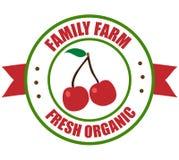Logotipo de la cereza ilustración del vector