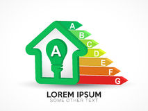 Logotipo de la certificación de la energía Imagenes de archivo