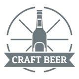 Logotipo de la cerveza del arte, estilo gris simple Foto de archivo