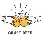 Logotipo de la cerveza del arte, poniendo letras a diseño del emblema del ejemplo del vector ilustración del vector