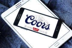 Logotipo de la cerveza del banquete de Coors Imagenes de archivo