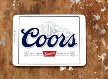Logotipo de la cerveza del banquete de Coors Foto de archivo libre de regalías