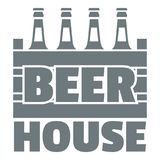 Logotipo de la cerveza, estilo gris simple Imagenes de archivo