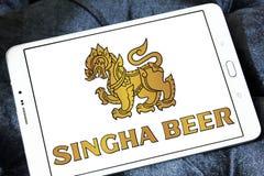 Logotipo de la cerveza de Singha Fotografía de archivo libre de regalías
