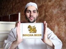 Logotipo de la cerveza de Singha Imagenes de archivo