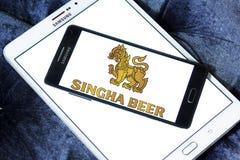 Logotipo de la cerveza de Singha Imagen de archivo libre de regalías
