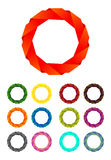 Logotipo de la cinta del círculo del extracto del diseño de asunto Foto de archivo libre de regalías