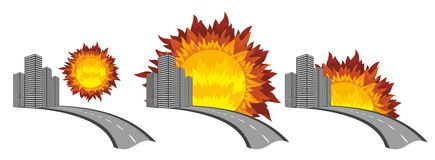 Logotipo de la ciudad con el sol Imagenes de archivo
