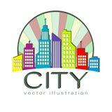 Logotipo de la ciudad, icono del web del edificio del vector Fotografía de archivo